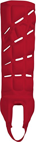 STX Field Hockey Contour Shinguard, Red, Large