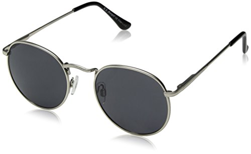 A.J. Morgan Bradley Round Sunglasses, Silver, 50 ()