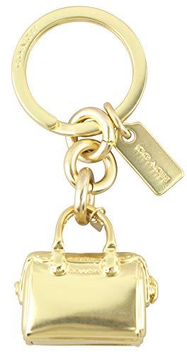 Coach Womens Mini Handbag Keychain Purse Hanger Gold