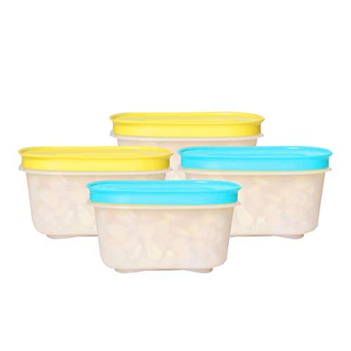Tupperware Plastic Freezer Container – 170ml, 4 Pc, Multicolour