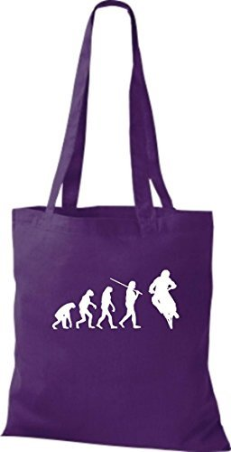Shirtinstyle - Cotton Fabric Bag For Women Purple - Purple