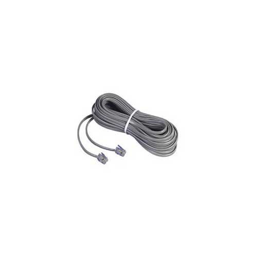GE Phone Line Cord (TL26163), 15 ft., Satin