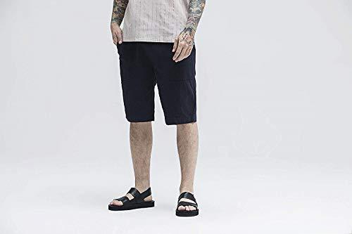 Vintage Sportivi Tinta Borse Coulisse Pantaloni In Huixin Casual Con Primavera Dunkelblau Autunno Jogging Da Skinny Uomo Unita Cotone Rqfa7Pnw4