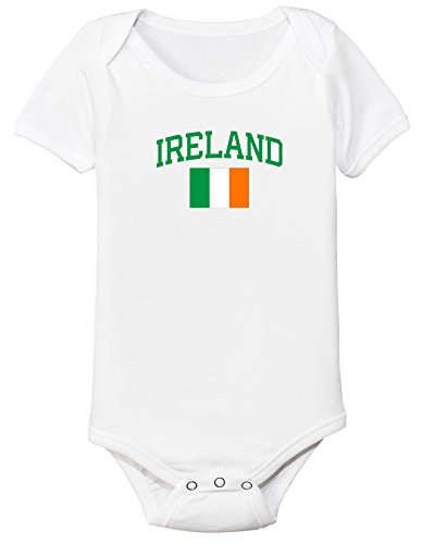 nobrand Ireland Bodysuit Soccer Infant Baby Girls Boys Personalized Customized Name and Number (6 Months, White) from nobrand