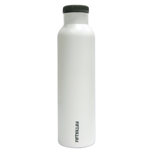 Lifeline 7506WH Winter White Stainless Steel Vacuum Insulated Double Wall Bottle - (24 Ounce Vacuum)
