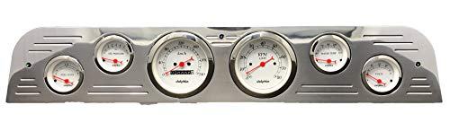 Dolphin Gauges 1967 1968 1969 1970 1971 1972 Ford Truck 6 Gauge Dash Cluster Panel Metric Mechanical White ()