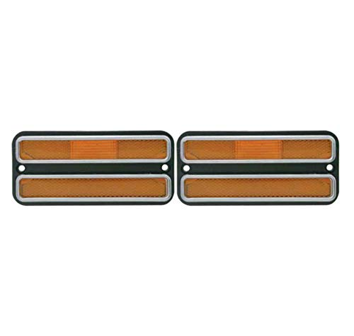 United Pacific (2) 1968-1972 Chevy Truck Amber Front Side Marker Light Housings