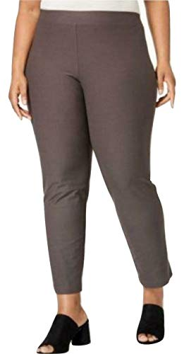 Eileen Fisher Woman Plus Washable Stretch Crepe Slim Ankle Pants, Rye, 1X ()