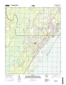 Brookgreen, South Carolina topo map by East View Geospatial, 1:24:000, 7.5 x 7.5 Minutes, US Topo, 22.8