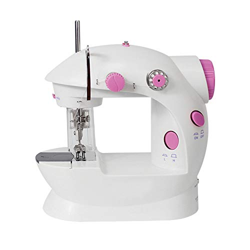 Sewing Machine Mini Electric Portable  Handheld Embroidery Machine 2 Speed with Needle Protector Fit for Beginners Household Gift