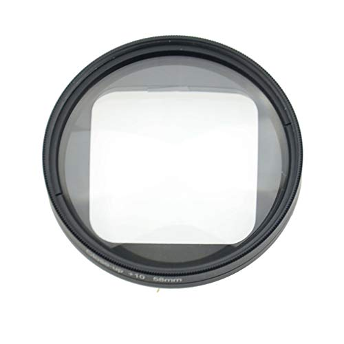 Bomcomi 58mm Magnifier 10x Magnification Macro Close up Lens Replacement for Gopro hero4 Session Action Camera Accessories