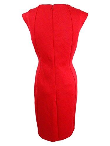Calvin Klein Gaine Sous-marine Ornée De Femmes Robe De Feu Rouge