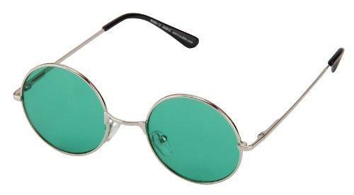 soleil Vert de couleurs ronds charnière rétro ressort Argenté différentes Lunettes style Transparent 8058 arrondi et à rond verres faqOwd