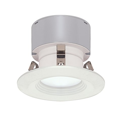 Satco S9128 LED Downlight Retrofit 3' Baffle 3000K Miniature 2 Pin Round Base Dimmable Light Bulb, 7W