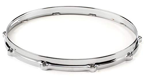 Pearl Diecast Hoops - Ludwig Die-cast 10-lug Snare Drum Hoop - Snare Side - Chrome