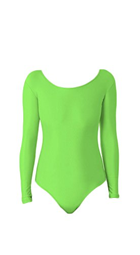 WOLF UNITARD Long Sleeve Leotard for Adult and Child Small Grass Green]()