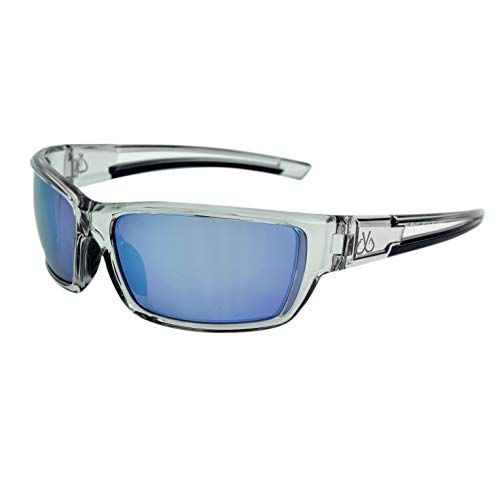 Filthy Anglers Balsam Men's Polarized Sport Sunglasses, Smoked Frame, Polarized w/Ice Blue Mirror Lenses