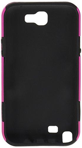 MYBAT ASAMGNIIHPCSAAS804NP avanzada armadura resistente estuche duradero híbrido de goma con pata de cabra para Samsung Galaxy Note II - 1 Pack - empaquetado al por menor - Rojo / Negro