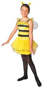 Lovely and Girly - Disfraz de abeja con alas y antenas amarillo para niña (de 6/8 años)
