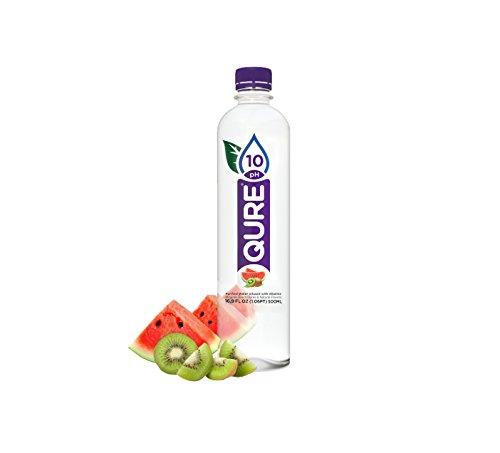 Qure Alkaline Water  Watermelon Kiwi  24 Count