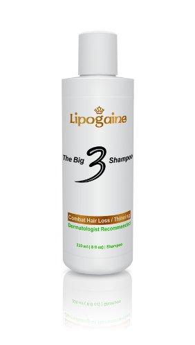 Lipogaine Big 3 perte de cheveux shampooing (8 oz)