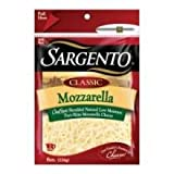 Sargento Classic Chef Style Shredded Mozzarella Cheese, 8 Ounce - 12 per case.