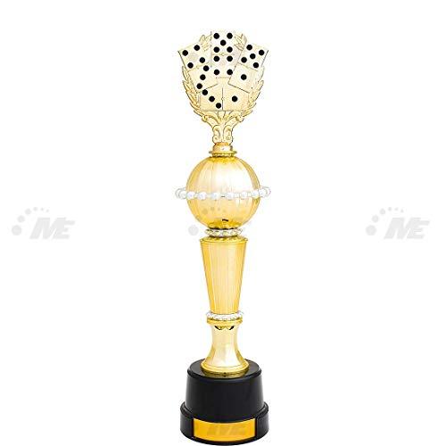 AX Esportes Troféu Dominó 2º Colocado 51cm, Dourado