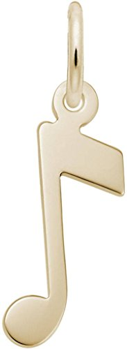 Rembrandt Music Note Charm - Metal - 14K Yellow Gold