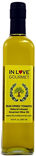 In Love Gourmet Sun-Dried Tomato Natural Flavor Infused Olive Oil 500ML/16.9oz Try it in Salads, Pasta, or on a Toasted Piece of Bread
