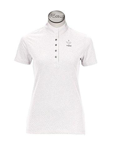 PIKEUR Damen-Turniershirt mit 1/2 Arm, weiß, 38
