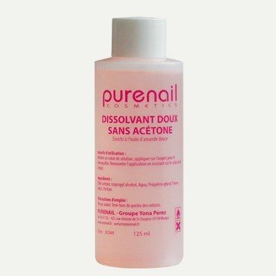 Quita esmalte suave sin acetona en 125 ml para unas falsas, gel UV y esmalte permanente: Amazon.es: Oficina y papelería