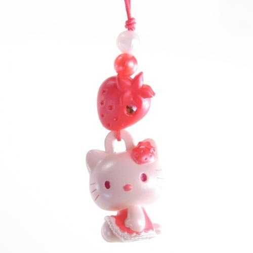 Hello Kitty Charm Mascot -- Red Strawberry - Japanese Import! ()