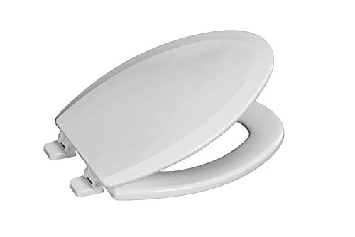Centoco 900-001 Elongated Wooden Toilet Seat, Heavy Duty Molded Wood with Centocore Technology, White