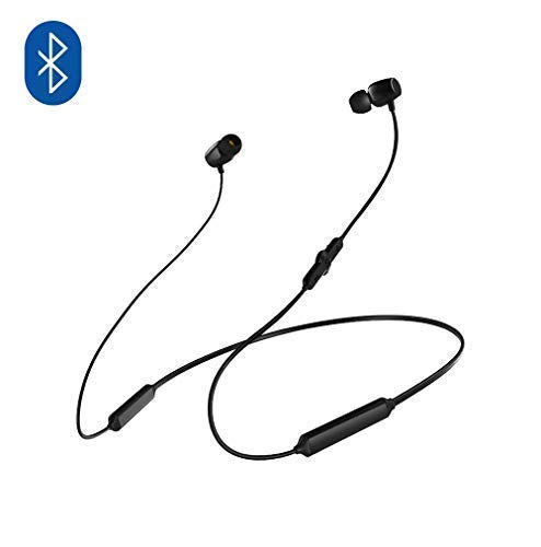 NatoGears 48 Hours Playtime IPX5 Sport Neckband Headphones Earbuds Waterproof Headphones for Sports and Gyms (Black)