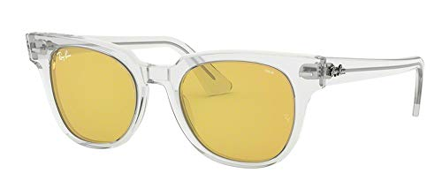 Ray-Ban RB2168 METEOR 912/4A 50M Transparent/Yellow Sunglasses For Men For Women