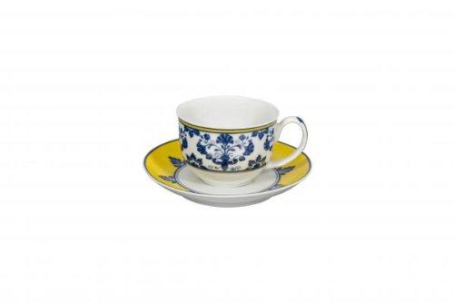 Vista Alegre Pavillion-Castelo Branco Coffee Cup and Saucer/Demi Tasse