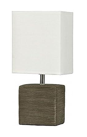 Elegante Lámpara de mesa en marrón Bauhaus E14 hasta 40 ...