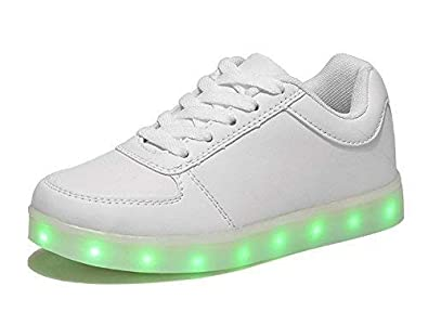 f4c6c0d5 Premsons® LED Lighting Shoes with USB Charging for Kids Girls Boys - Size  41 (White): Buy Online at Low Prices in India - Amazon.in