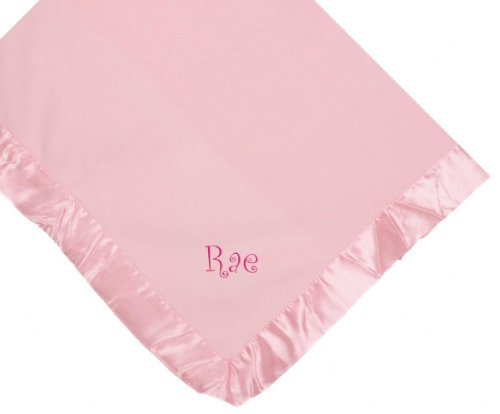 Rae Girl Embroidery Microfleece Satin Trim Baby Embroidered