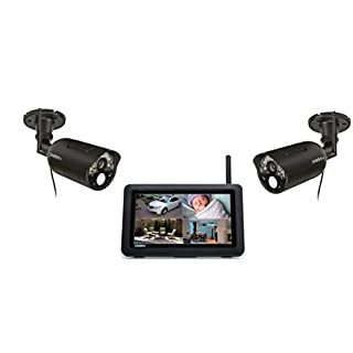 Uniden UDR744HD Outdoor Cameras with 7-Inch High Resolution LCD Touchscreen (Black)