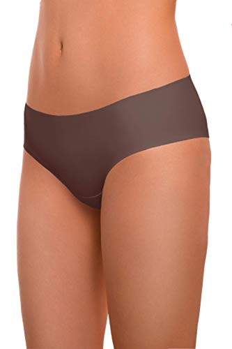 ARGOCLASSIC Seamless Panties Underwear with Quick Dry Technology (L, Chocolate) ()