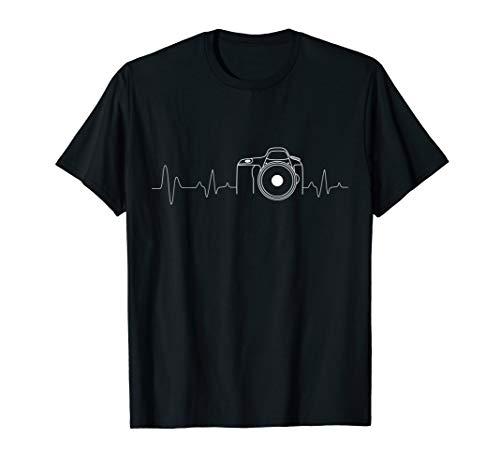 Photographer T-Shirt Gift Idea HeartBeat Photography Camera (Gifts For Photographers T Shirts)