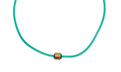 christmas gift idea green rubber necklace under 30 dollars for hercasual