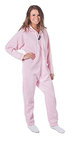 Forever Lazy Heavyweight Adult Onesie - Out in a Blink Pink - XL