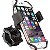 Best Universal Bicycle & Motorcycle Cell Phone Holder- Stationary (Non Moving) or Rotation.Great For Using GPS & Streaming Music Bluetooth Mount iPhone 7,8,Plus & All Samsung Galaxy Note & Smartphones