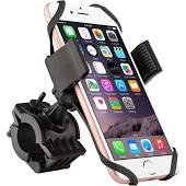 Best Universal Bicycle & Motorcycle Cell Phone Holder- Stationary (Non Moving) or Rotation.Great For Using GPS & Streaming