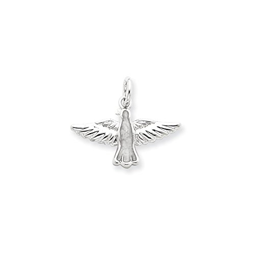 - 925 Sterling Silver Enameled Holy Spirit Pendant Charm Necklace Religious Medal Trinity Fine Jewelry Gifts For Women For Her