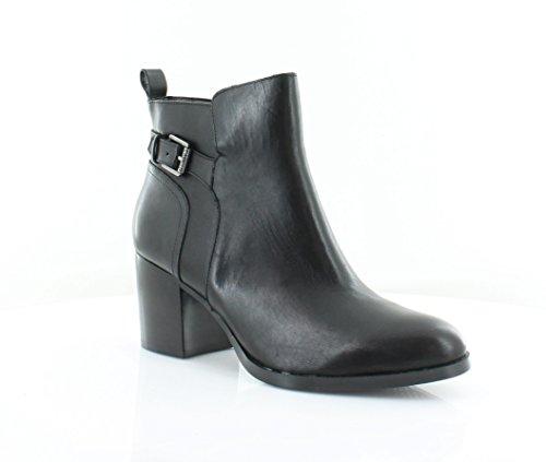 Heels High Lauren (Lauren by Ralph Lauren Womens Genna Leather Closed Toe Ankle, Black, Size 7.0)