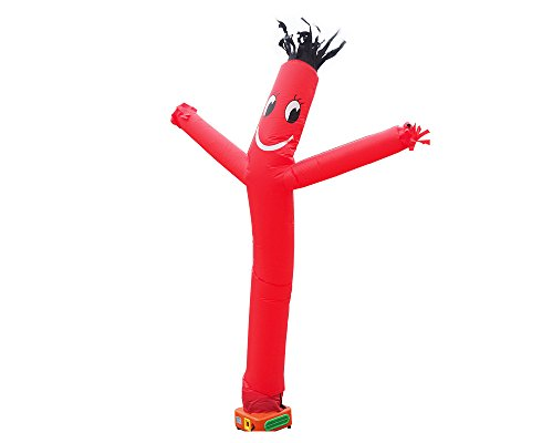 Inflatable Sign - Air Tube Dancing House Sign Walker Fly Dancer Waving Puppet Man Inflatable Air Wind Flying 10Feet (Red)