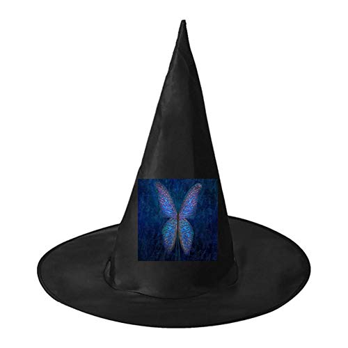 Butterfly Pattern Unisex Halloween Witch Role Playing Wizard Hat for Costume -